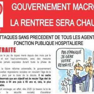 > GOUVERNEMENT MACRON – LA RENTRÉE SERA CHAUDE