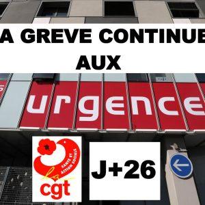 > GRÉVE DES URGENCES J+26
