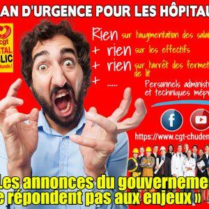 > PLAN D'URGENCE POUR LES HÔPITAUX