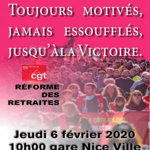 > GRÉVE ET MANIFESTATION JEUDI 6 FÉVRIER 2020
