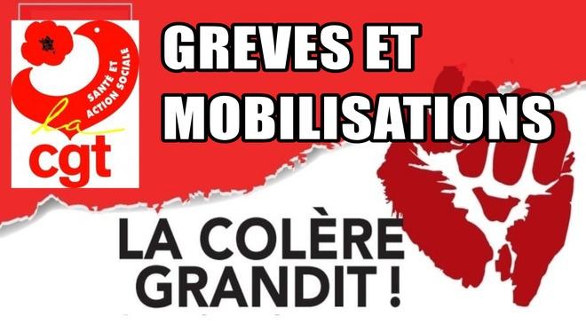> GRÉVES ET MOBILISATIONS À VENIR